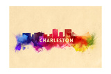 Charleston, South Carolina - Skyline Abstract Posters by  Lantern Press