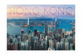 Hong Kong, China - Aerial View Prints by  Lantern Press