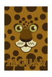 Zoo Faces - Jaguar Art by  Lantern Press