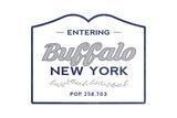 Buffalo, New York - Now Entering (Blue) Prints by  Lantern Press