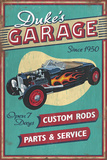 Dukes Garage - Vintage Sign Prints by  Lantern Press