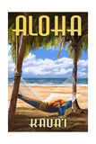 Kauai, Hawaii - Hammock Scene Posters by  Lantern Press