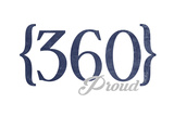 Vancouver, Washington - 360 Area Code (Blue) Print by  Lantern Press