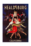Healdsburg, California - Women Dancing with Wine Posters by  Lantern Press