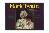 Mark Twain Brand - Tustin, California - Citrus Crate Label Art by  Lantern Press