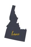 Idaho - Home State- Gray on White Prints by  Lantern Press