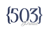 Salem, Oregon - 503 Area Code (Blue) Prints by  Lantern Press