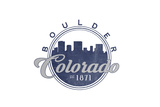 Boulder, Colorado - Skyline Seal (Blue) Print by  Lantern Press