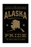 Alaska State Pride - Gold on Black Posters by  Lantern Press