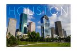 Houston, Texas - Skyline and Blue Sky Prints by  Lantern Press
