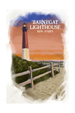 Barnegat Lighthouse - New Jersey - Watercolor Poster by  Lantern Press