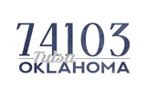 Tulsa, Oklahoma - 74103 Zip Code (Blue) Posters by  Lantern Press
