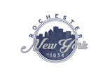 Rochester, New York - Skyline Seal (Blue) Prints by  Lantern Press