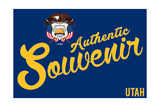 Visited Utah - Authentic Souvenir Poster by  Lantern Press
