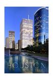 Houston, Texas - Plaza Print by  Lantern Press