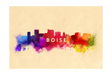 Boise, Idaho - Skyline Abstract Print by  Lantern Press