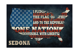 Sedona, Arizona - Americana - Pledge of Allegiance Posters by  Lantern Press