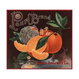Pearl Brand - Kansas City, Missouri - Citrus Crate Label Poster by  Lantern Press