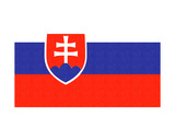 Slovakia Country Flag - Letterpress Prints by  Lantern Press
