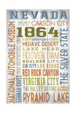 Nevada - Barnwood Typography Prints by  Lantern Press