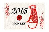 Year of the Monkey - 2016 - Horizontal Pattern Posters by  Lantern Press
