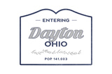 Dayton, Ohio - Now Entering (Blue) Prints by  Lantern Press