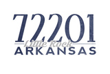Little Rock, Arkansas - 72201 Zip Code (Blue) Prints by  Lantern Press