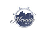 Reno, Nevada - Skyline Seal (Blue) Prints by  Lantern Press
