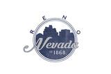 Reno, Nevada - Skyline Seal (Blue) Prints by  Lantern Press