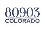 Colorado Springs, Colorado - 80903 Zip Code (Blue) Prints by  Lantern Press