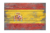 Spain Country Flag - Barnwood Painting Poster by  Lantern Press