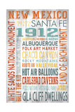 New Mexico - Barnwood Typography Posters by  Lantern Press