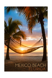 Mexico Beach, Florida - Hammock and Sunset Prints by  Lantern Press