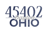 Dayton, Ohio - 45402 Zip Code (Blue) Prints by  Lantern Press