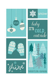 Whistler, Canada - Christmas - Blue Snow - Checkerboard Posters by  Lantern Press