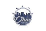 Akron, Ohio - Skyline Seal (Blue) Print by  Lantern Press