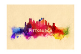 Pittsburgh, Pennsylvania - Skyline Abstract Art by  Lantern Press