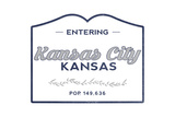 Kansas City, Kansas - Now Entering (Blue) Posters by  Lantern Press