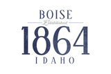 Boise, Idaho - Established Date (Blue) Posters by  Lantern Press