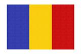 Romania Country Flag - Letterpress Prints by  Lantern Press