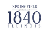 Springfield, Illinois - Established Date (Blue) Prints by  Lantern Press