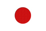Japan Country Flag - Letterpress Posters by  Lantern Press