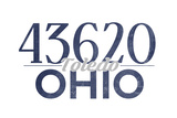 Toledo, Ohio - 43620 Zip Code (Blue) Print by  Lantern Press