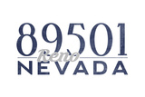 Reno, Nevada - 89501 Zip Code (Blue) Prints by  Lantern Press