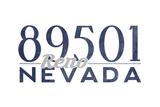 Reno, Nevada - 89501 Zip Code (Blue) Prints by  Lantern Press