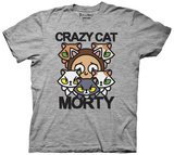 Rick And Morty- Crazy Cat Morty T-shirts