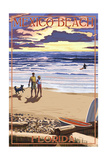 Mexico Beach, Florida - Beach Scene and Surfers Poster by  Lantern Press