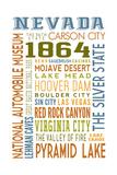 Nevada - Typography Poster by  Lantern Press