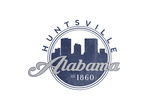 Huntsville, Alabama - Skyline Seal (Blue) Prints by  Lantern Press