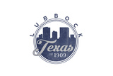Lubbock, Texas - Skyline Seal (Blue) Posters by  Lantern Press